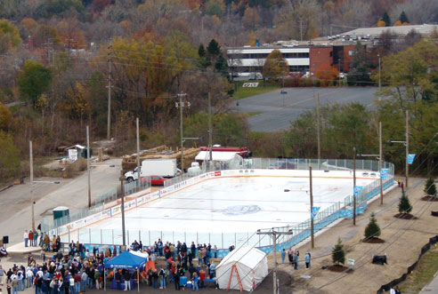 From Orchard Park, N.Y., the Winter Classic rink has found a new home in nearby Aurora.