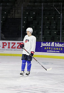 Mikey Anderson is one of five returners from the 2018 U.S. WJC team that won a bronze medal in Buffalo.