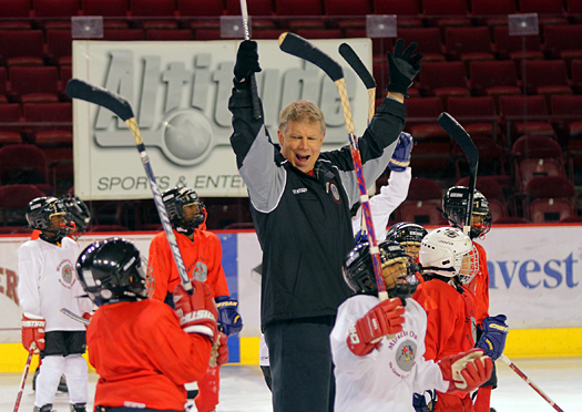 Peter McNab's passion for the game is matched only by his genuine caring for the 32 inner-city kids who spend a week at the Miracles on Ice camp at the University of Denver.