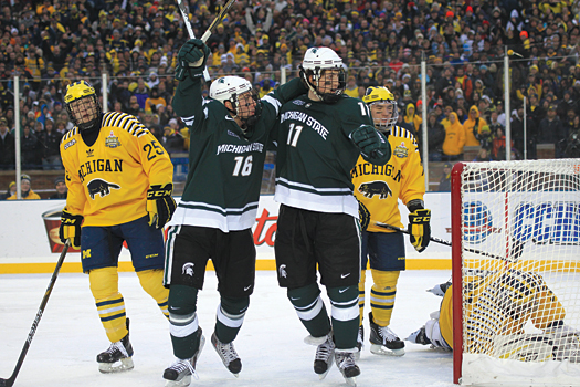 The loss of the University of Michigan and Michigan State University dealt a huge blow to the Central Collegiate Hockey Association.