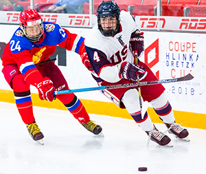 16-year-old defenseman Mitchell Miller had five points in the Hlinka Gretzky Cup. The Cedar Rapids Roughriders product is now looking to help lead the U.S. to a first place finish in the World Junior A Challenge.