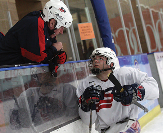 With more than 50 years of college coaching experience between them, Jeff Sauer and Mike Sertich brought a wealth of knowledge to an already talented and experienced U.S. Sled Hockey Team, that includes veteran players such as Taylor Lipsett.