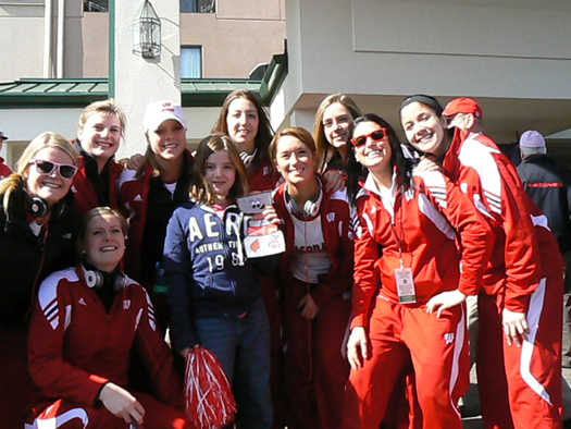 Sasha Henderson poses with some of the Wisconsin Women&#039;s Badger Champions: Photo submitted by Erin Henderson