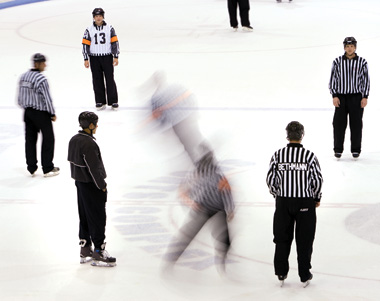 Training Camp in Spooner, Wis.,  is high impact and requires a lot of skating. Officials must be able to keep up with the speed of the game.