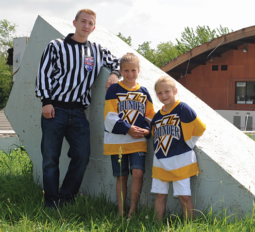 USA Hockey official Zane Stout and Makayla and Sydney Banasick of the Mons Valley Thunder Youth Hockey Association are counting the days until the Rostraver Ice Gardens near Pittsburgh is open again for business.