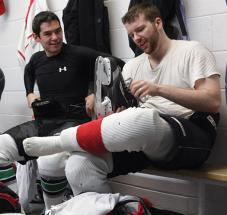 The camaraderie in the locker room is a big part of what keeps adult players involved in this great game.