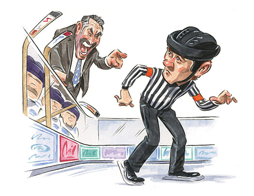 If the official refuses to approach the bench, the coach should take a second to consider his behavior and either send over a captain or try again at the next whistle.