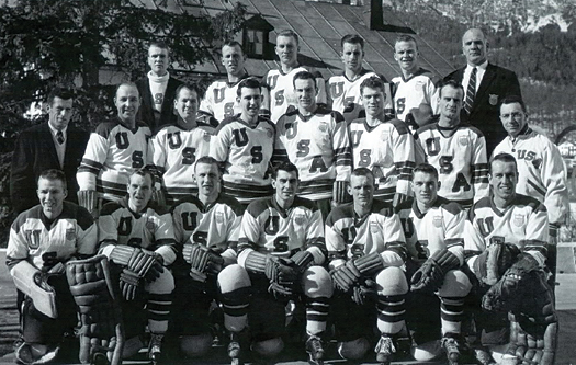 Despite reported riffs between East and West, the 1956 U.S. Olympic Team was a collection of the finest American hockey players available at the time.