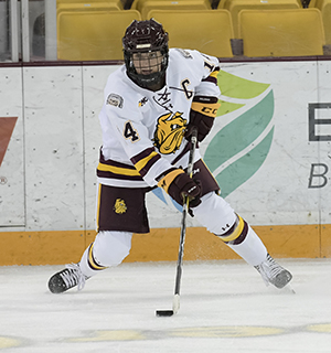 Brodt became the youngest captain in Minnesota Duluth women's hockey history when she took the role as a sophomore. Currently a junior, Brodt has seven points in 16 games this season.