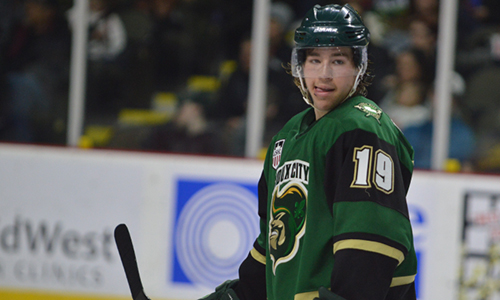 Recently rated the #16 North American skater by NHL Central Scouting, Brink was tabbed the USHL Forward of the Year. (Photo Credit: Jim Utterback)