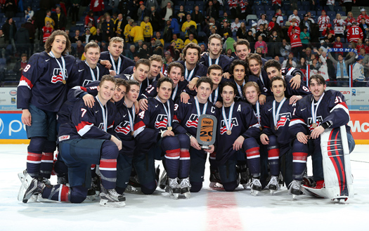 After suffering another disappointing loss at the hands of the Russians, the Americans rallied to take home the bronze medal with an 8-3 victory over Sweden. It marked the ninth medal the U.S. has won at the World Juniors.