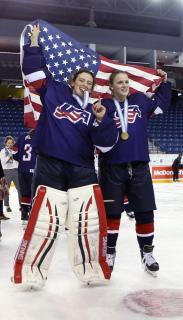 Larcom posted two shutouts for Team USA at the Under-18 Women's World Championships, helping lead her country to a gold medal