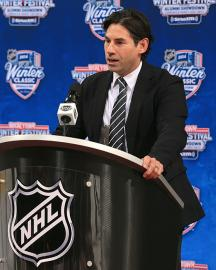 Five years after hanging up his competitive skates, Mathieu Schneider remains close to the game in his role as the assistant to the NHLPA's executive director.