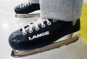 Harrie stills skates in a pair of Lange skates from the 1970s. They were the best skates back in the day because they were the first skates with an insulated boot insert.