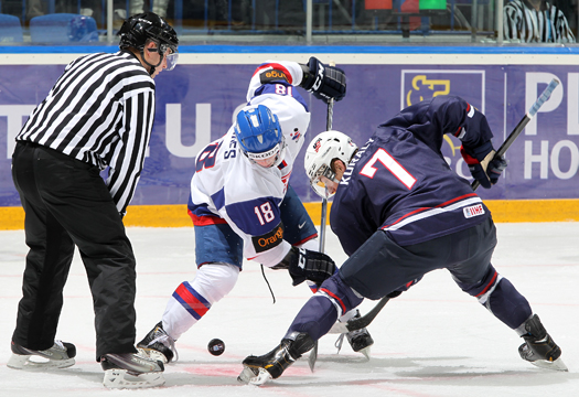 In a do-or-die preliminary round game against Slovakia, the U.S. National Junior Team dominated from the opening face off to win, 9-3, to stake a claim to a spot in the quarterfinals.