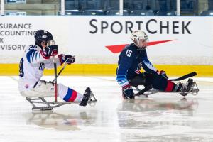Kyle Zych has found the net in both games he's played with the U.S. National Sled Team so far.