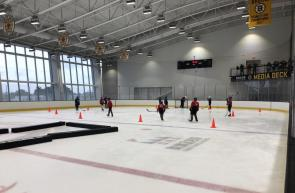 The clinic featured live on-ice sessions to help coaches grasp some important drills to help develop a fun learning environment.