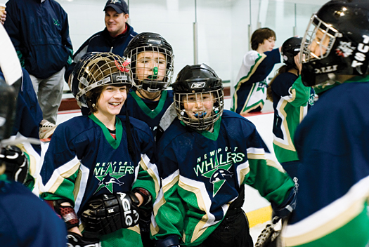 No matter their size or skill level, players from the Newport Whalers youth hockey program all found a way to compete and have fun during a skills competition as part of Hockey Weekend Across America.