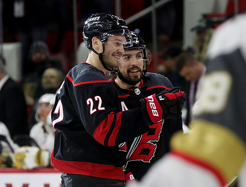 Pesce has played alongside three-time NHL All-Star Justin Faulk for most of the season. Despite playing primarily his off-side, Pesce has continued to flourish for Carolina.