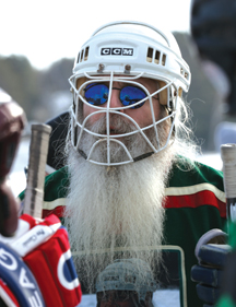 """Local hero Mark """"Mugsy"""" DePuydt, who was awarded the USA Hockey Adult Ironman of the Year returns for another pond hockey tournament."""