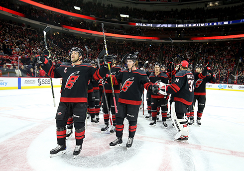 The Hurricanes youth-infused lineup and speed, along with the Storm Surge have provided ample entertainment for fans at PNC Arena in Raleigh this season.